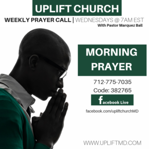 Uplift Prayer Call @ Facebook Live